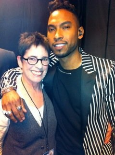 Miguel and me at 2013 Grammy Awards